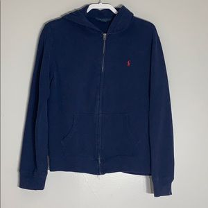 Polo by Ralph Lauren Navy Zip Up Hoodie
